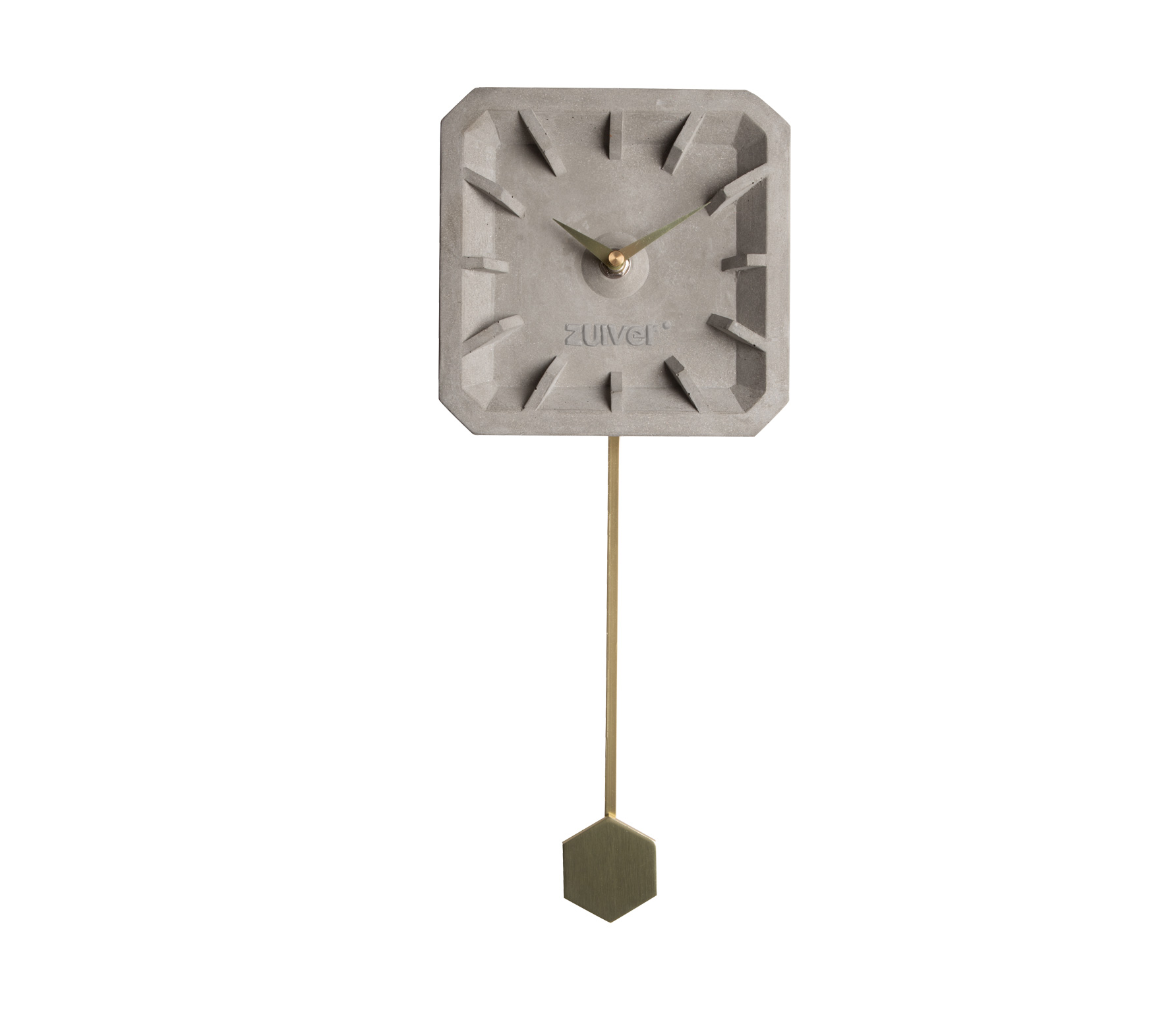 Zuiver TIKTAK wandklok beton met brass Beton icm brass