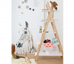 Afbeelding van product: WOOOD Tipi boekenkast 170x90x35 cm hout wit/naturel