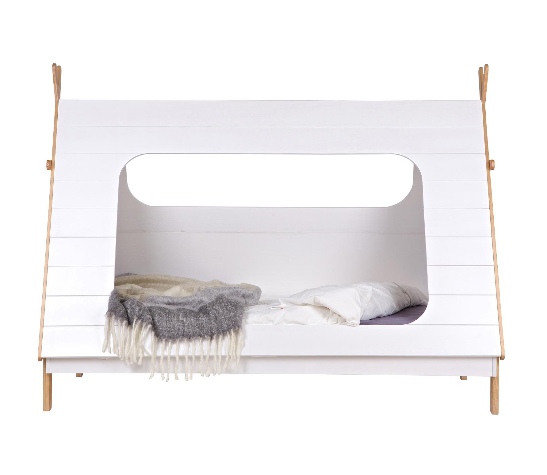 WOOOD Tipi bed wit naturel grenen 90 x 200 cm tipi bed zonder lade