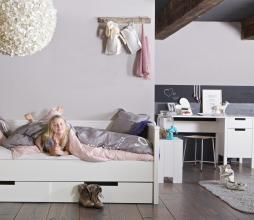 Afbeelding van product: WOOOD Jade bedbank 90x200 cm grenen wit, zonder bedlade