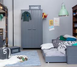 Afbeelding van product: WOOOD Dennis bed 90x200 cm grenen (exl. lade) staalgrijs