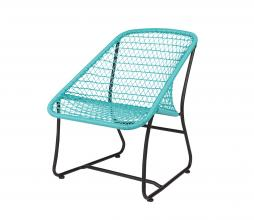 Afbeelding van product: Basiclabel Vigo lounge stoel kunststof (binnen-buiten) turquoise