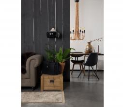 Afbeelding van product: Dutchbone Franky eetkamerstoel PU-leer zwart