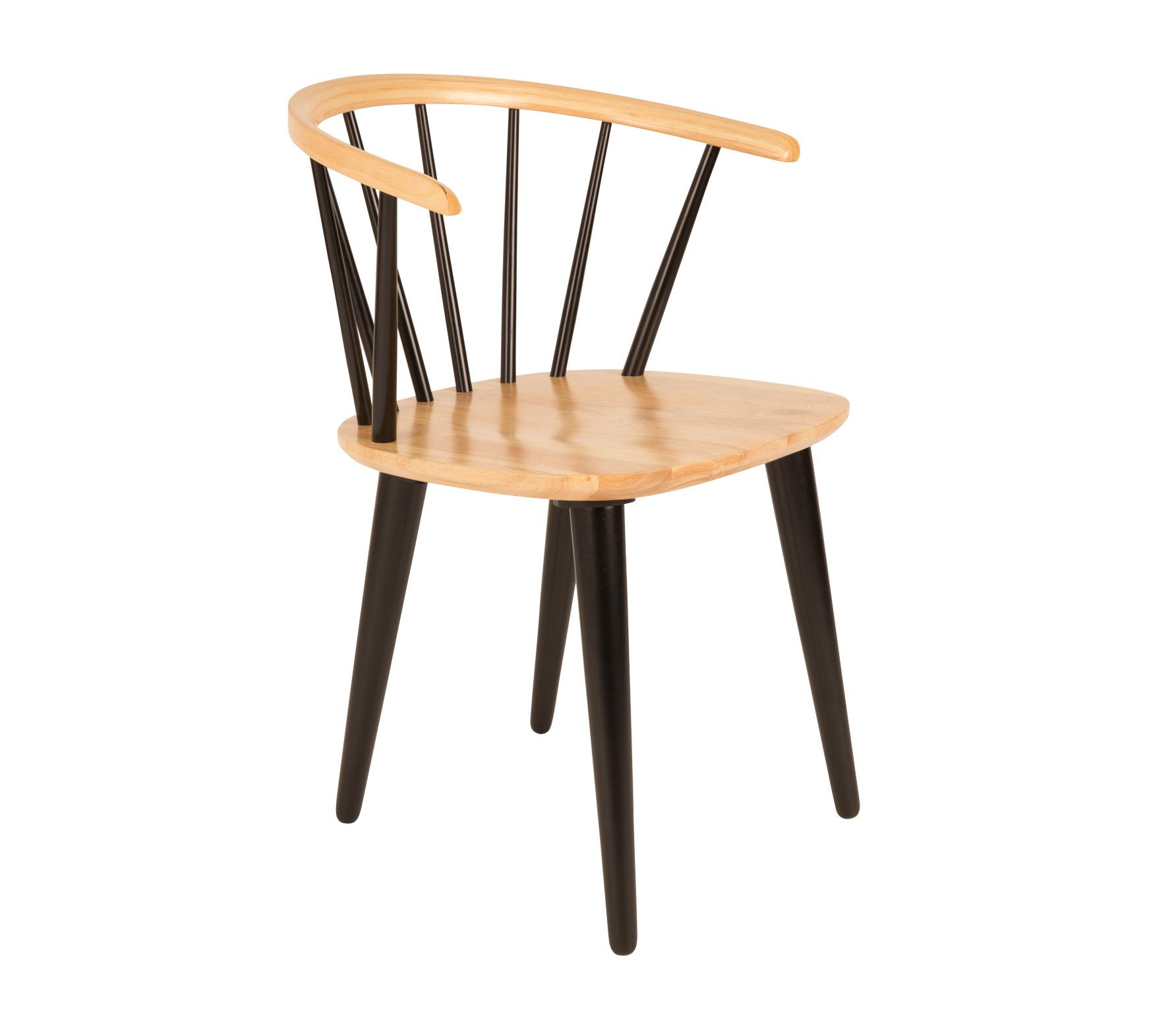 Gee eetkamerstoel hout blank/zwart