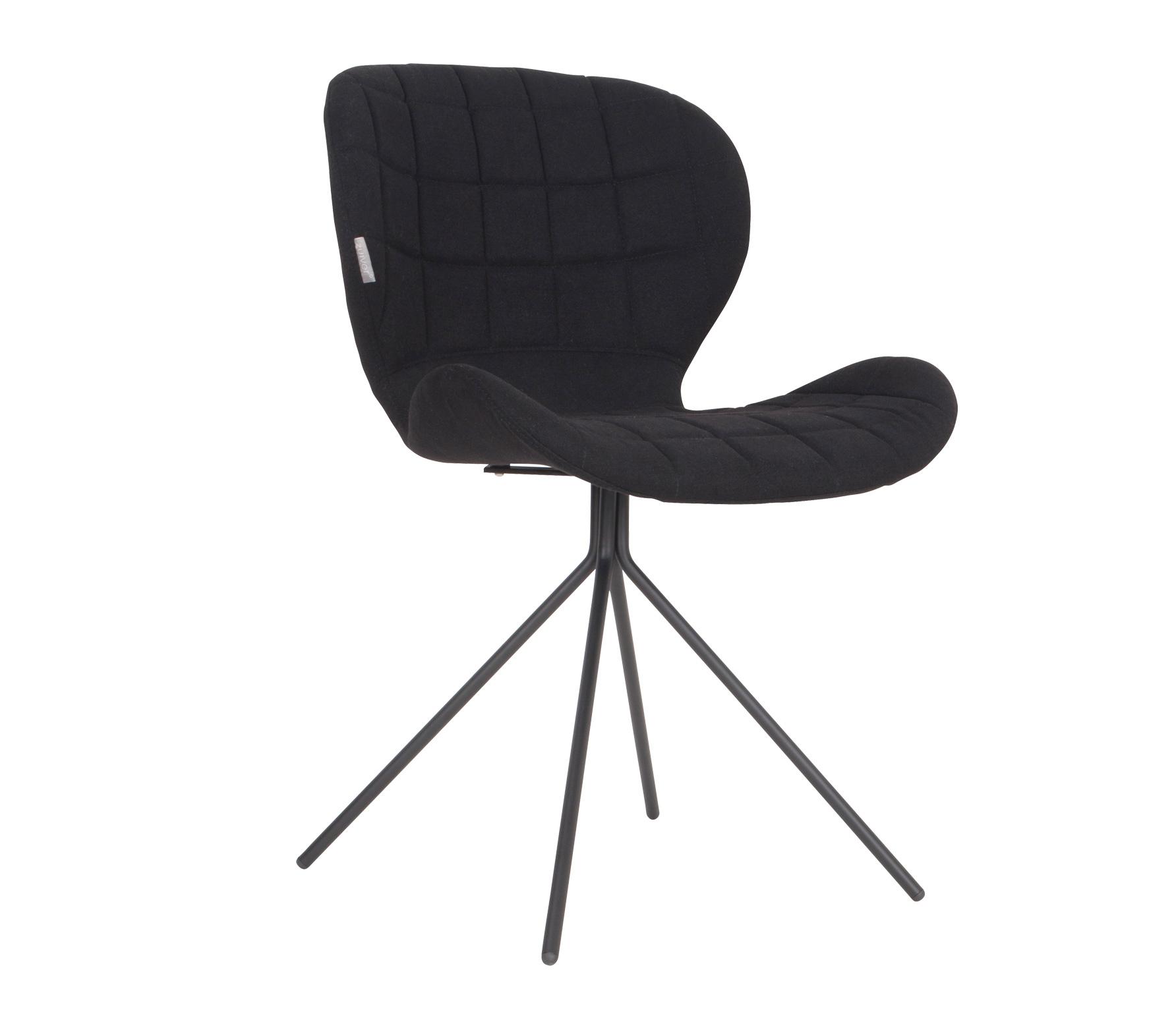 Zuiver OMG stoel velvet Zwart