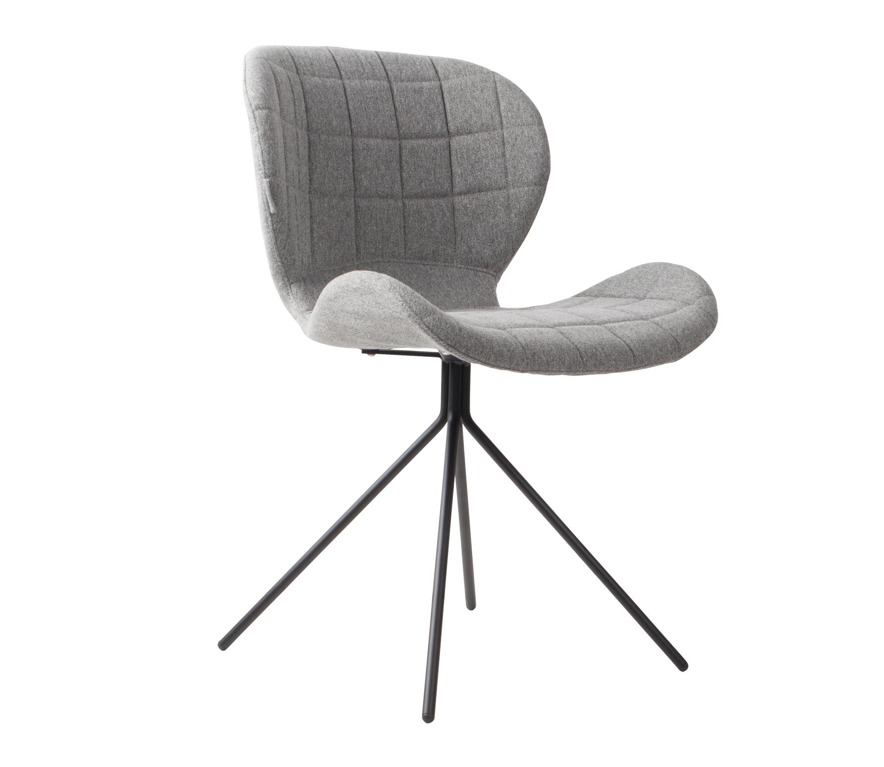 Zuiver OMG stoel velvet lichtgrijs
