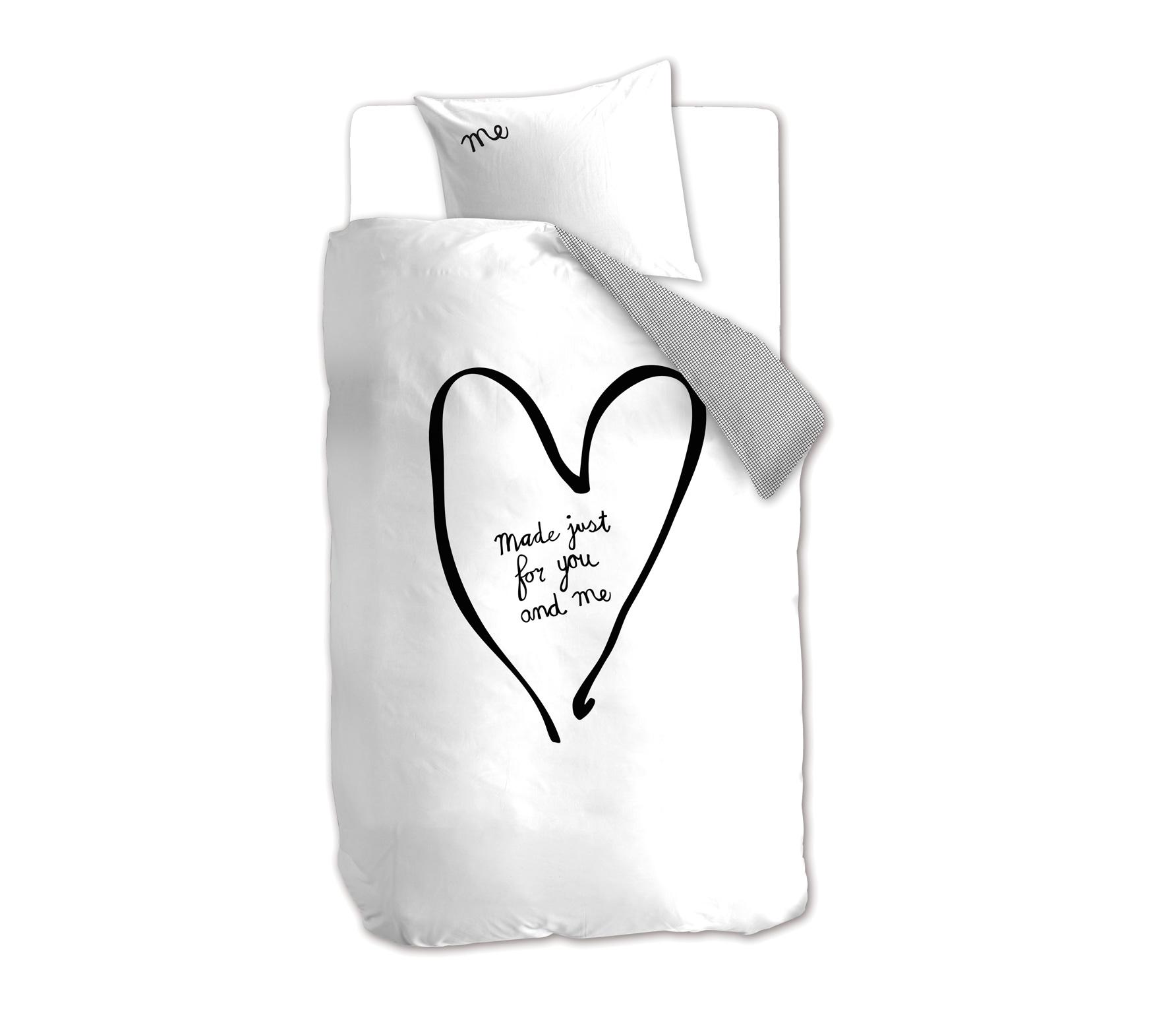 Riverdale You & Me dekbedovertrek wit 140x220 cm wordt gratis thuisbezorgd met 60 dagen gratis retourgarantie Basiclabel