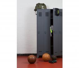 Afbeelding van product: WOOOD Stijn 2-deurs lockerkast 187x103x40 cm grenen staalgrijs