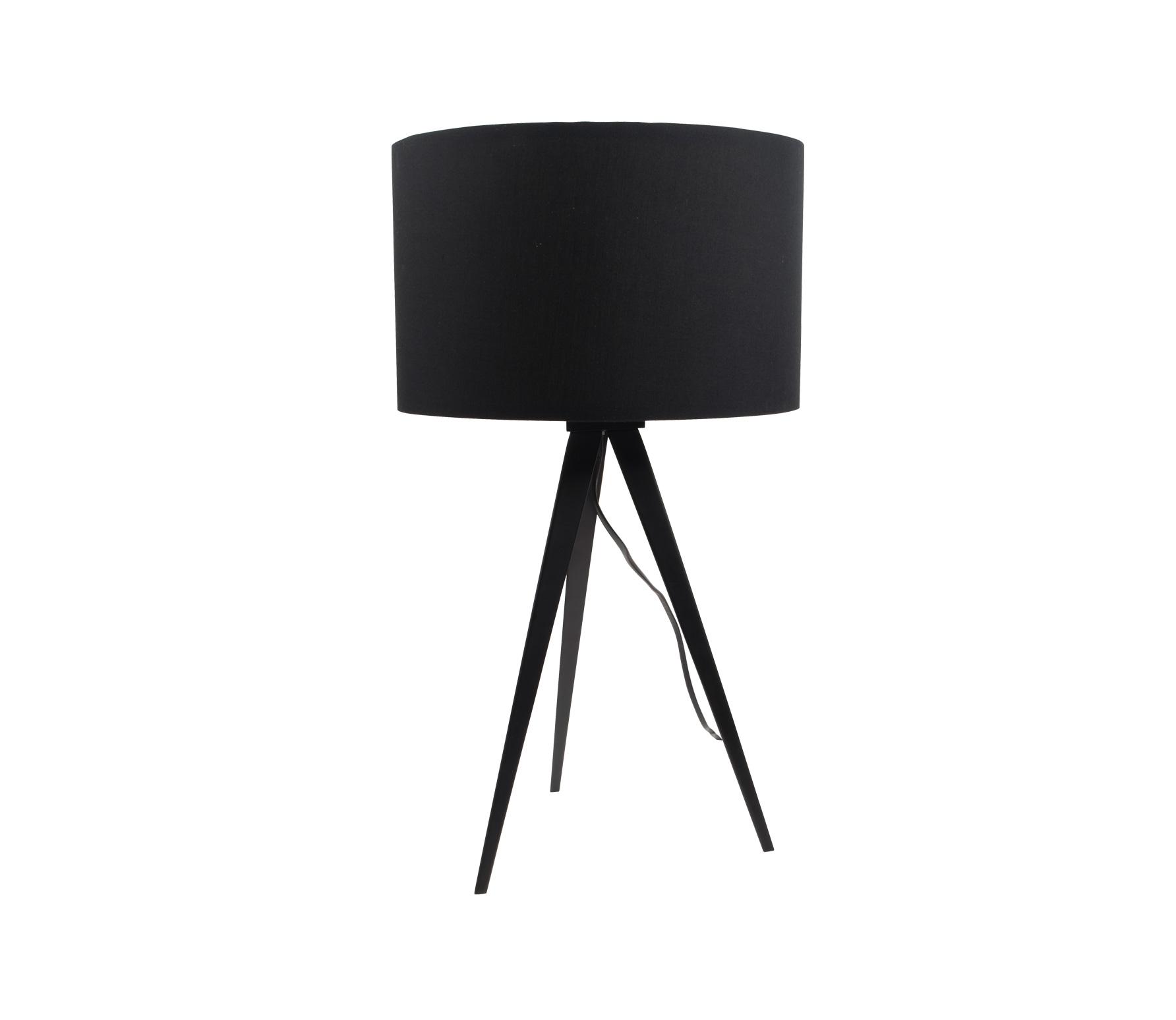 Zuiver Tripod tafellamp kunststof/metaal zwart