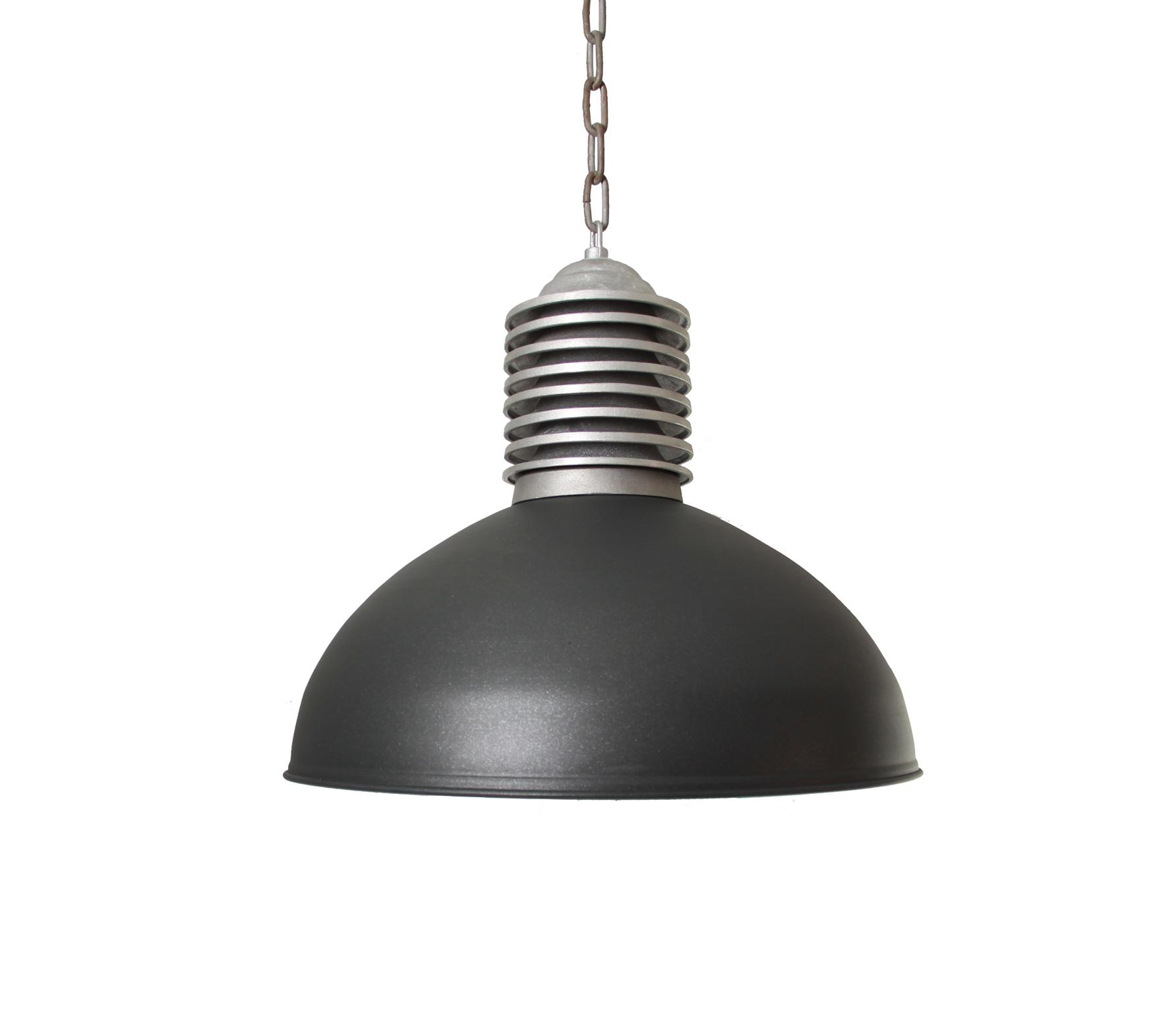 Old industrie hanglamp � 45 cm antraciet aluminium