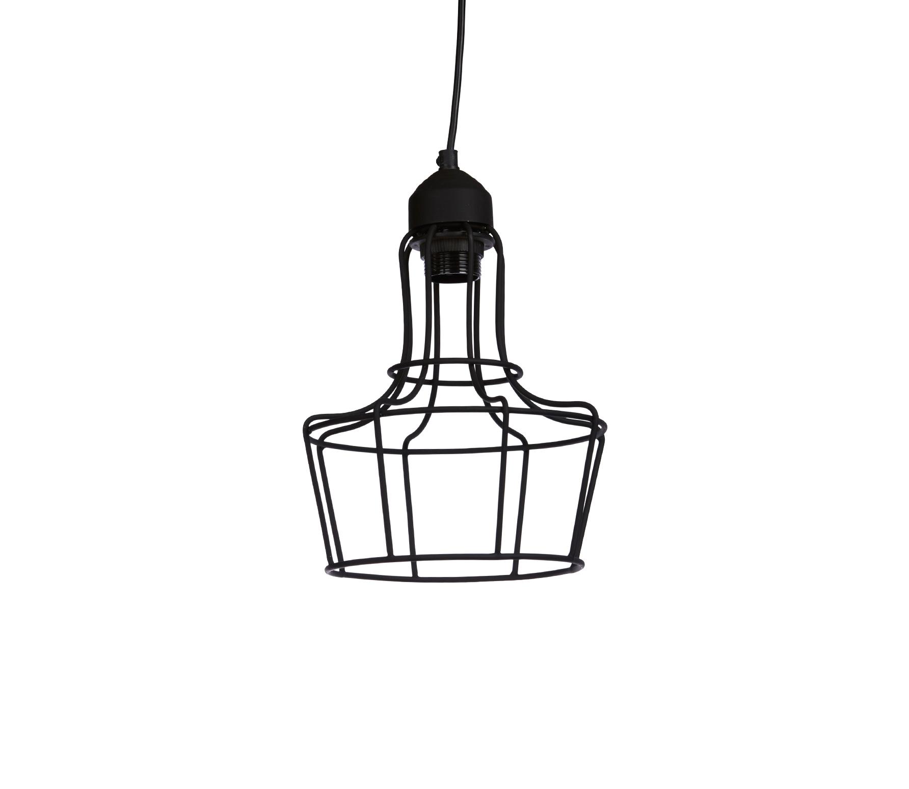 Hanglamp Metal 'O zwart ijzer  22 cm Zwart