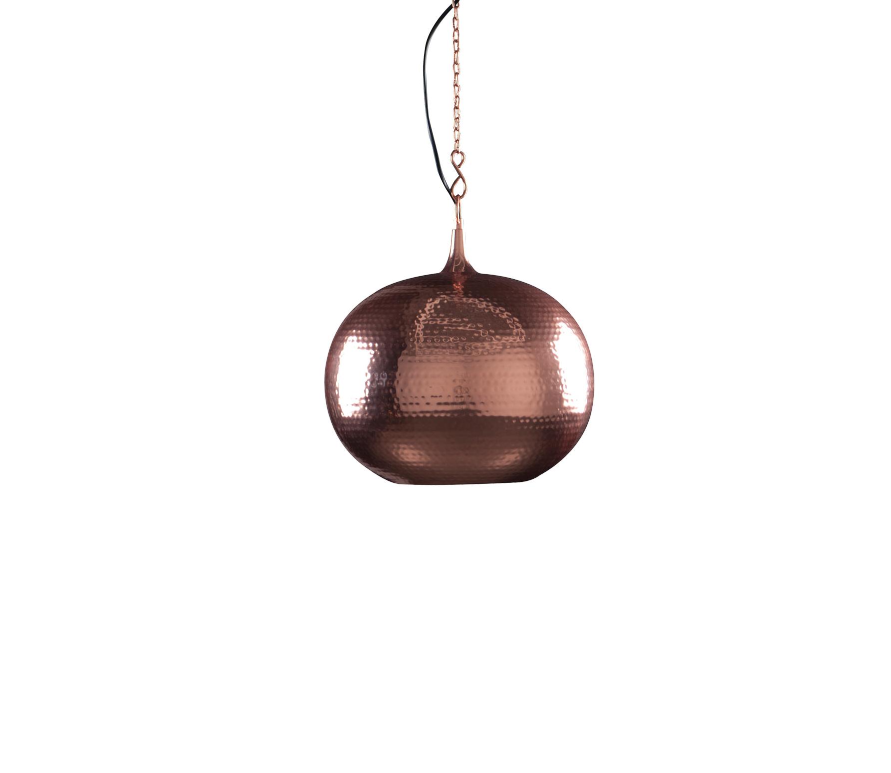 Zuiver Hammered Round � 35 cm copper Koper