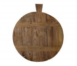 Afbeelding van product: HKLiving Reclaimed broodplank Ø50 cm teakhout bruin