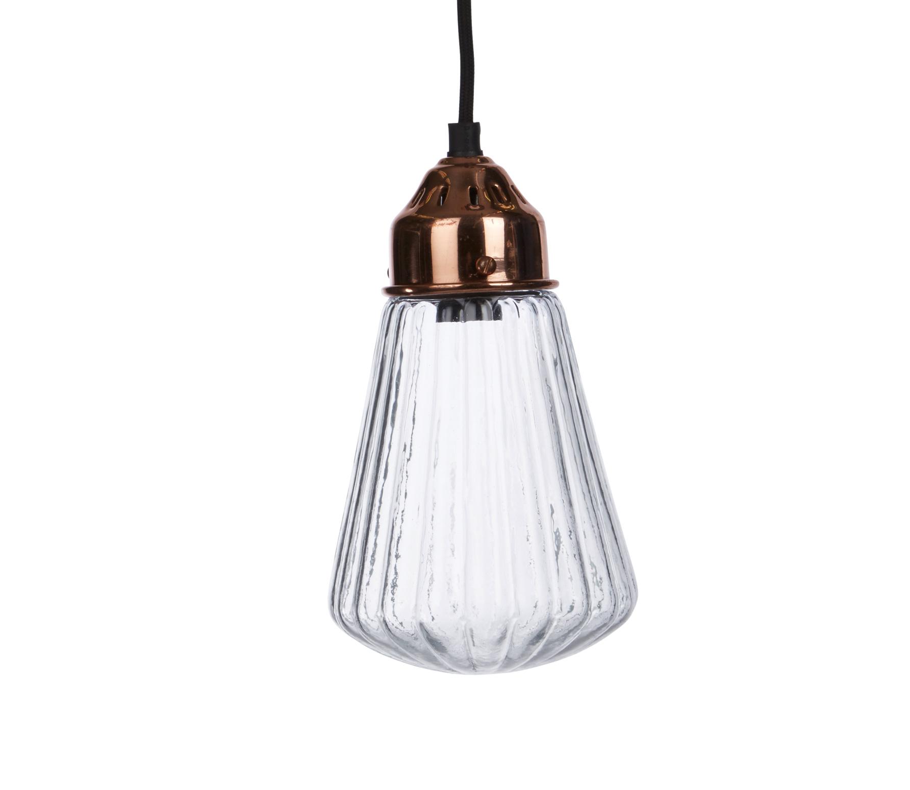 Pliage hanglamp Ø12 cm glas/metaal antiek koper