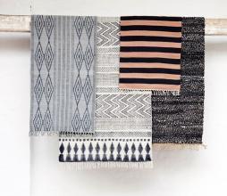 Afbeelding van product: Housedoctor Block vloerkleed grijs-zwart Zwart
