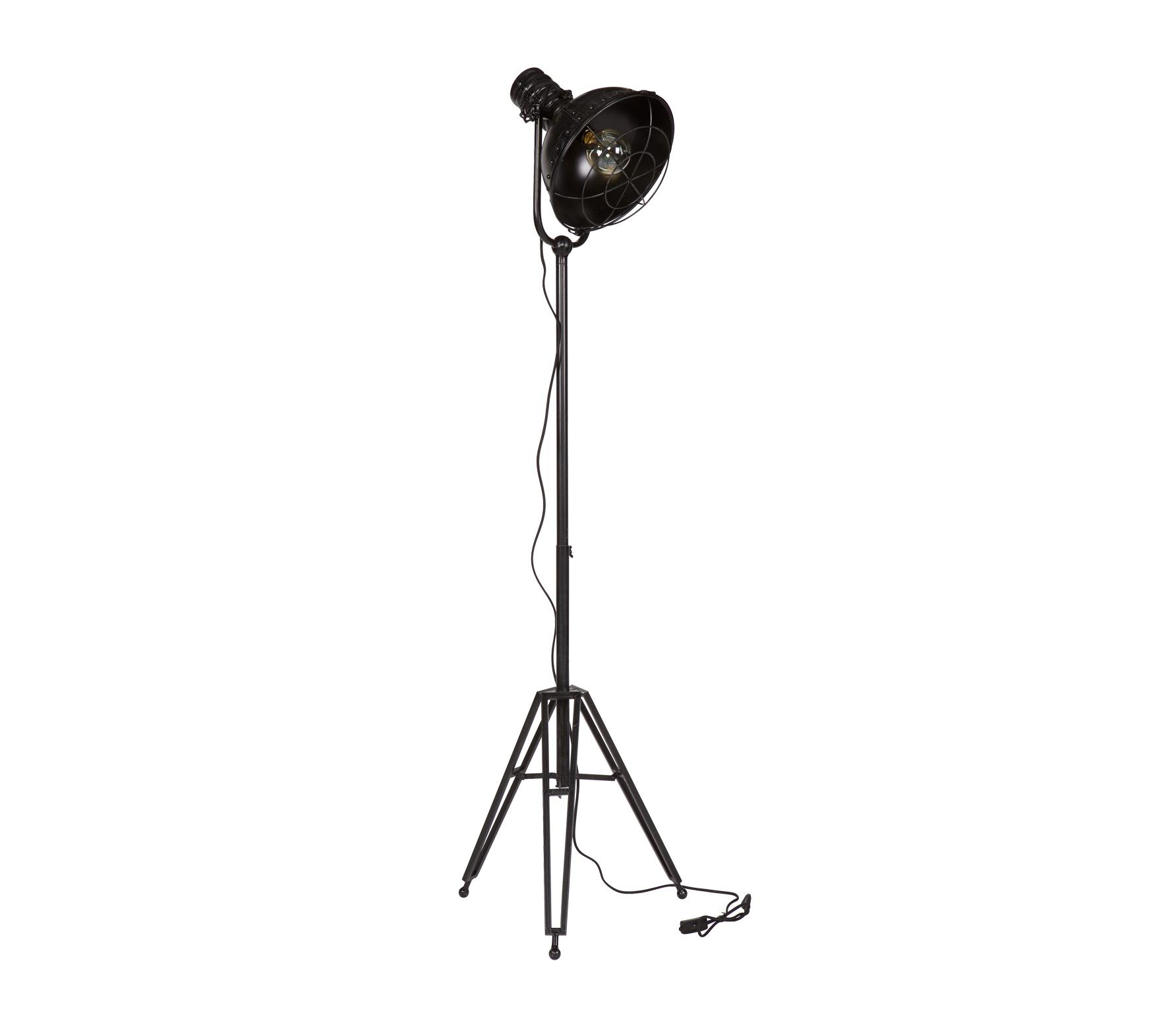 BePureHome Spotlight vintage vloerlamp metaal zwart