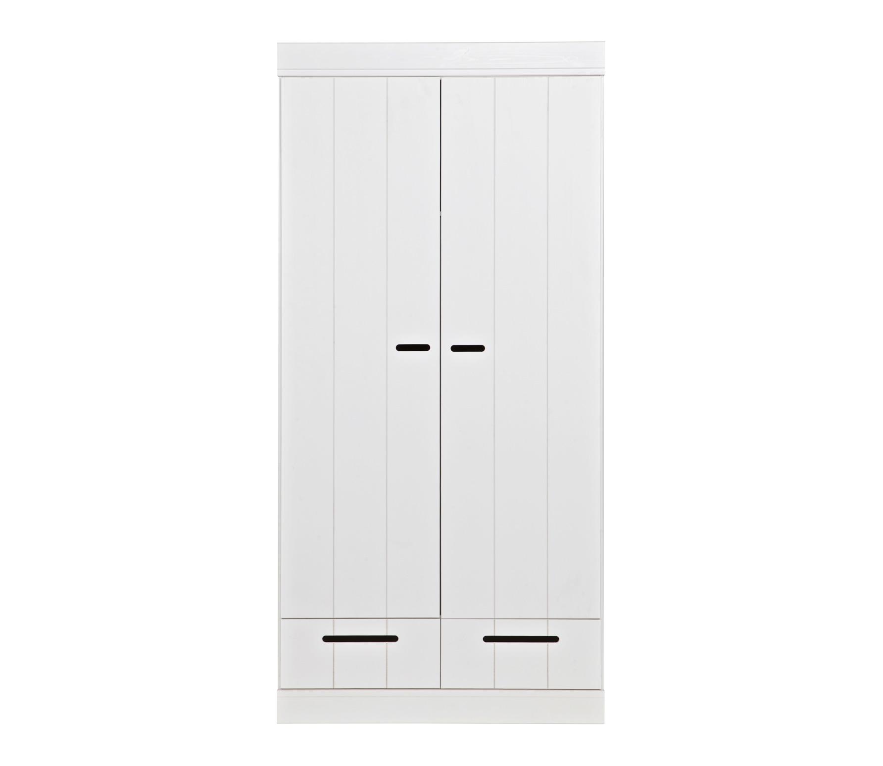 WOOOD Connect 2-deurs kast 195x94x53 cm sleufgrepen wit