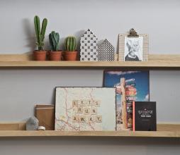 Afbeelding van product: WOOOD Wandplank fotolijsten 120 cm eiken naturel