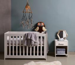 Afbeelding van product: WOOOD Dennis nachtkastje geborsteld grenen betongrijs