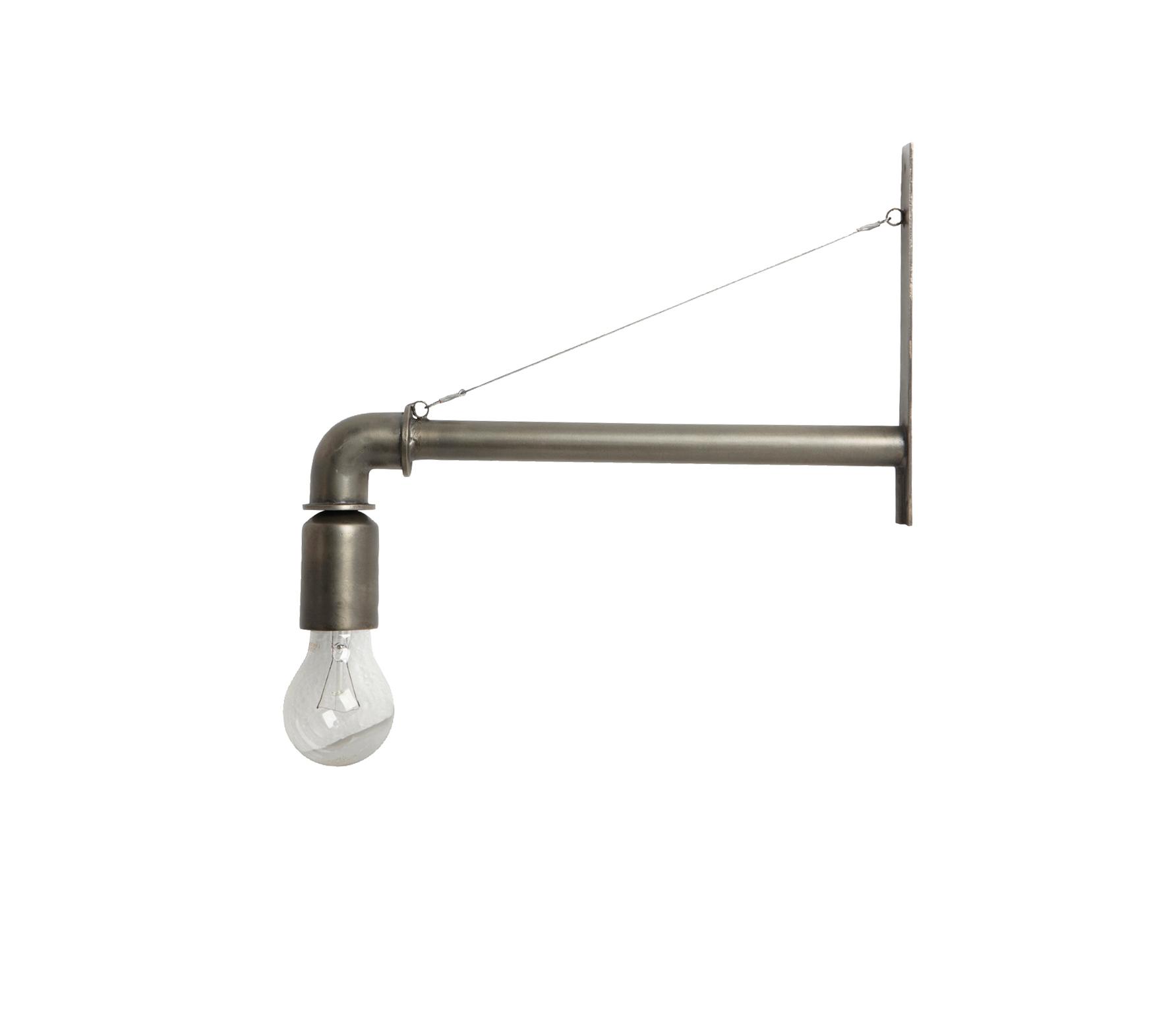 Housedoctor Pipe wandlamp metaal mat zilver