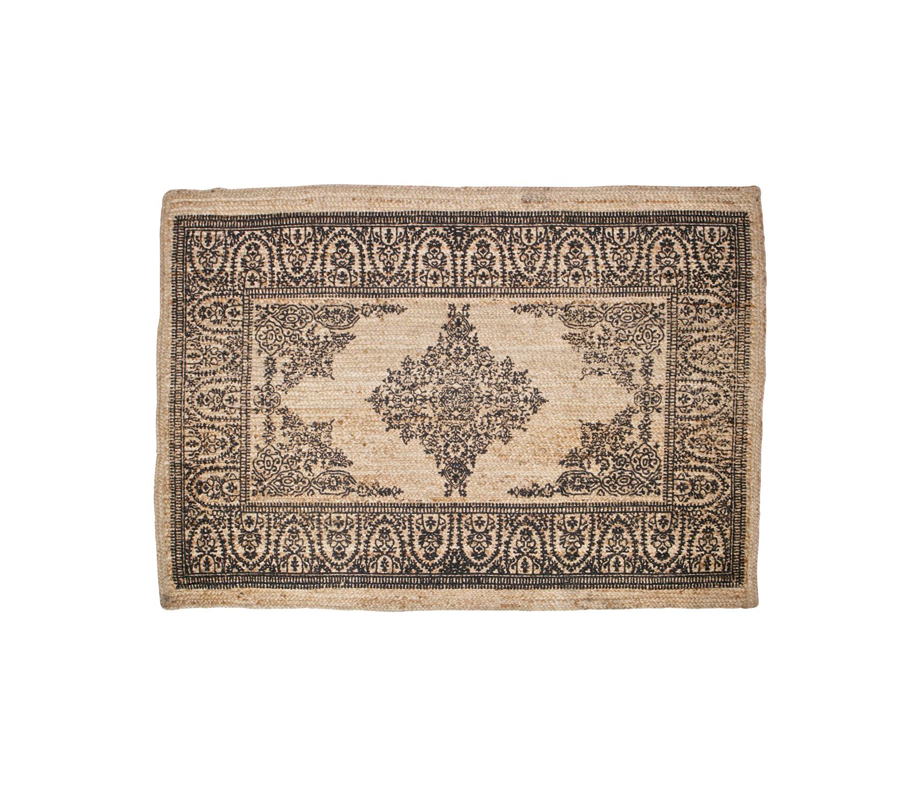 BePureHome Motive vloerkleed sisal met print vrijstaand