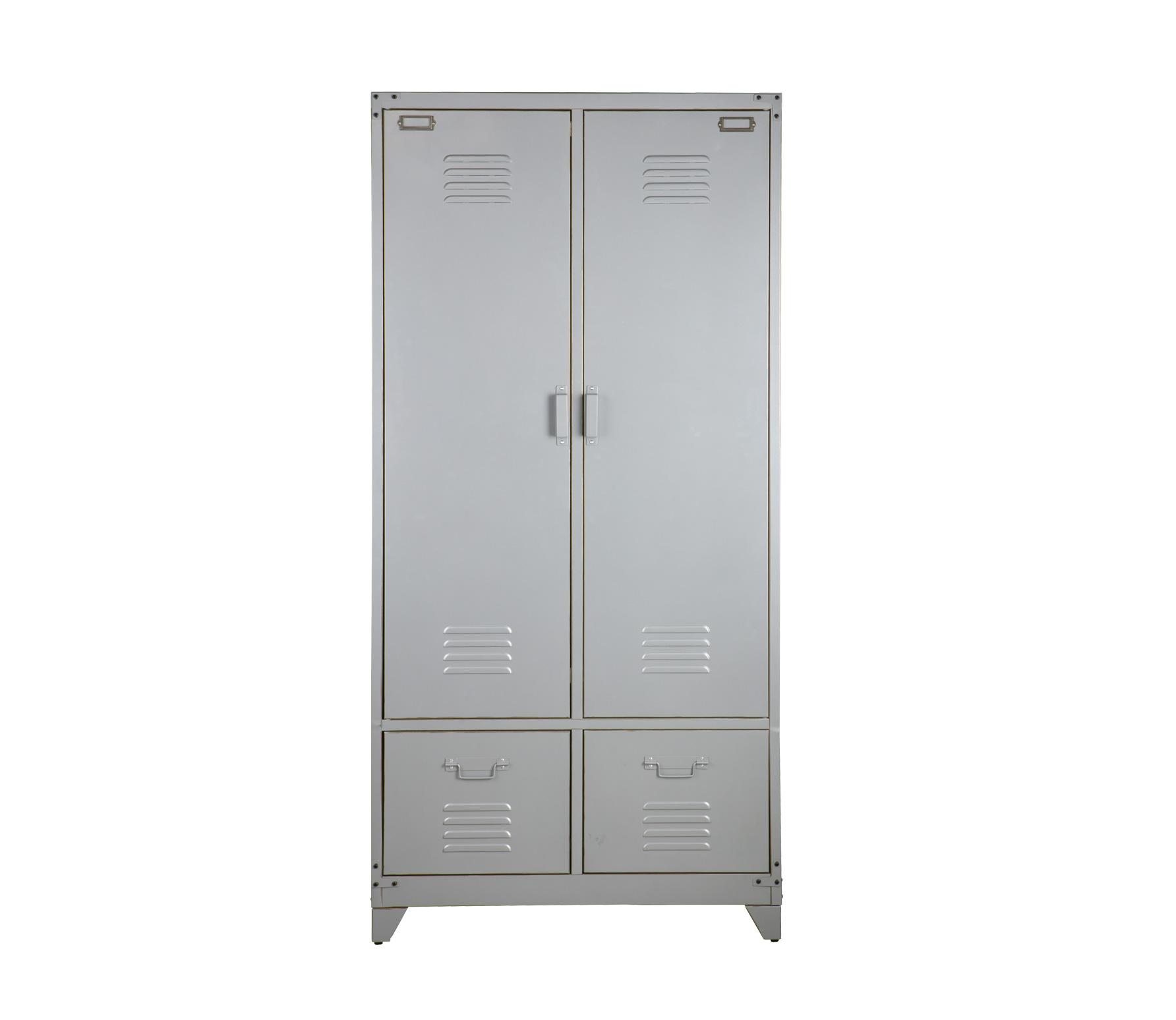 vtwonen Safe lockerkast metaal zilvergrijs open