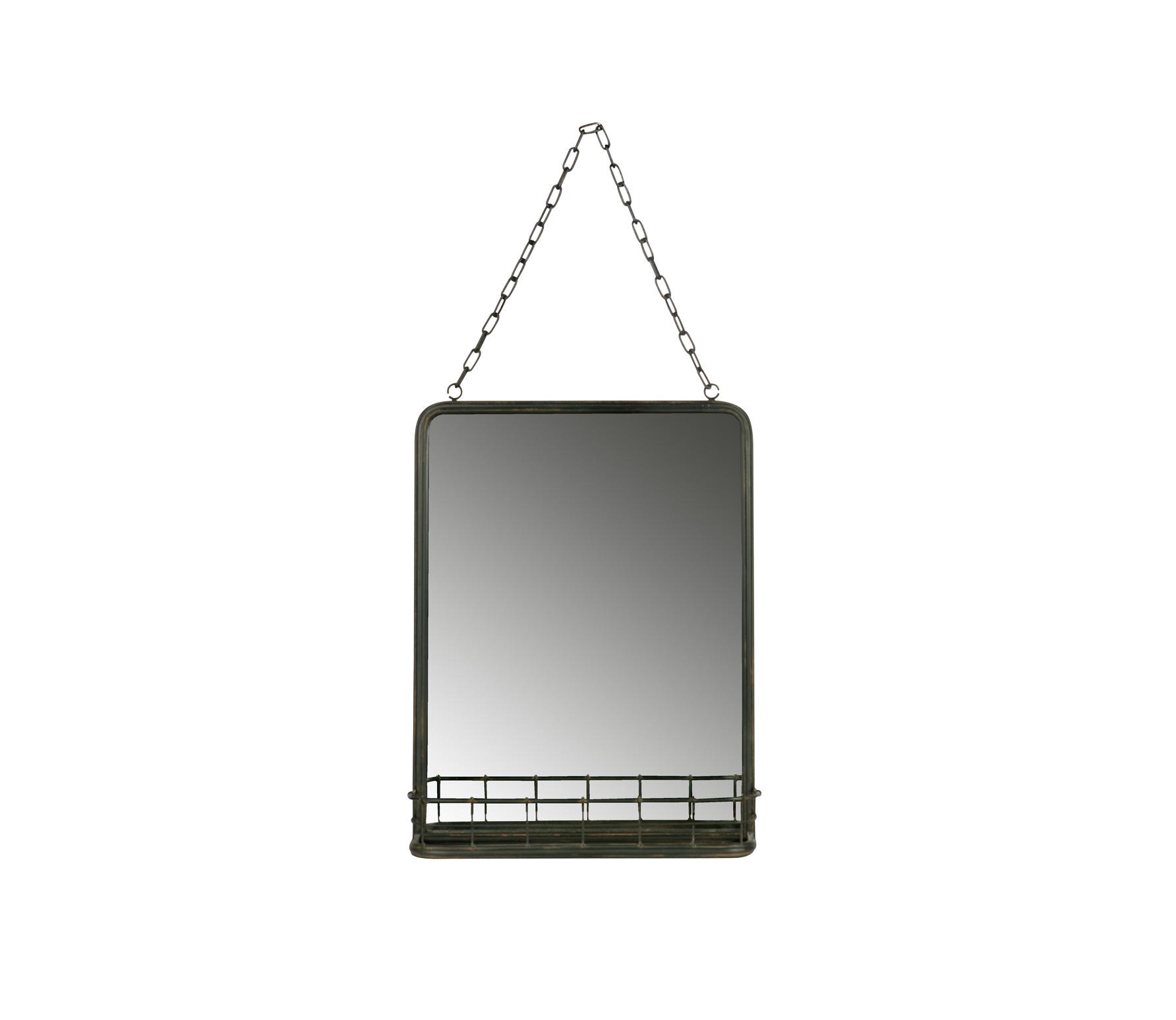 BePureHome Speak spiegel metaal met planchet