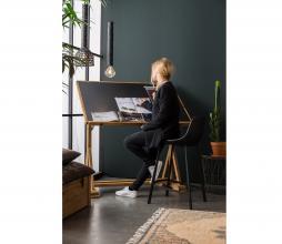 Afbeelding van product: Dutchbone Franky counter-barkruk PU-leer zwart