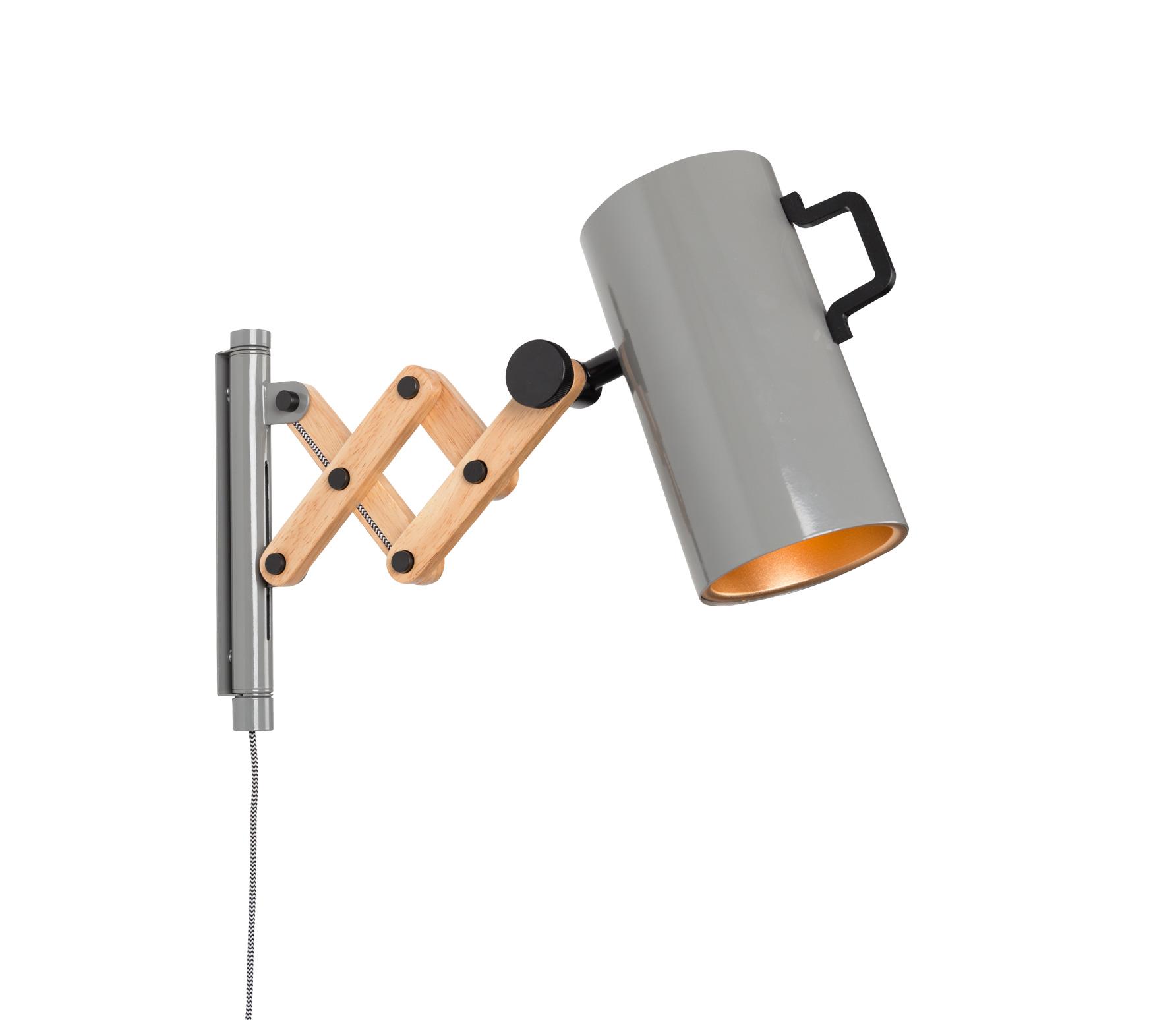 Zuiver Flex wandlamp grijs vrijstaand
