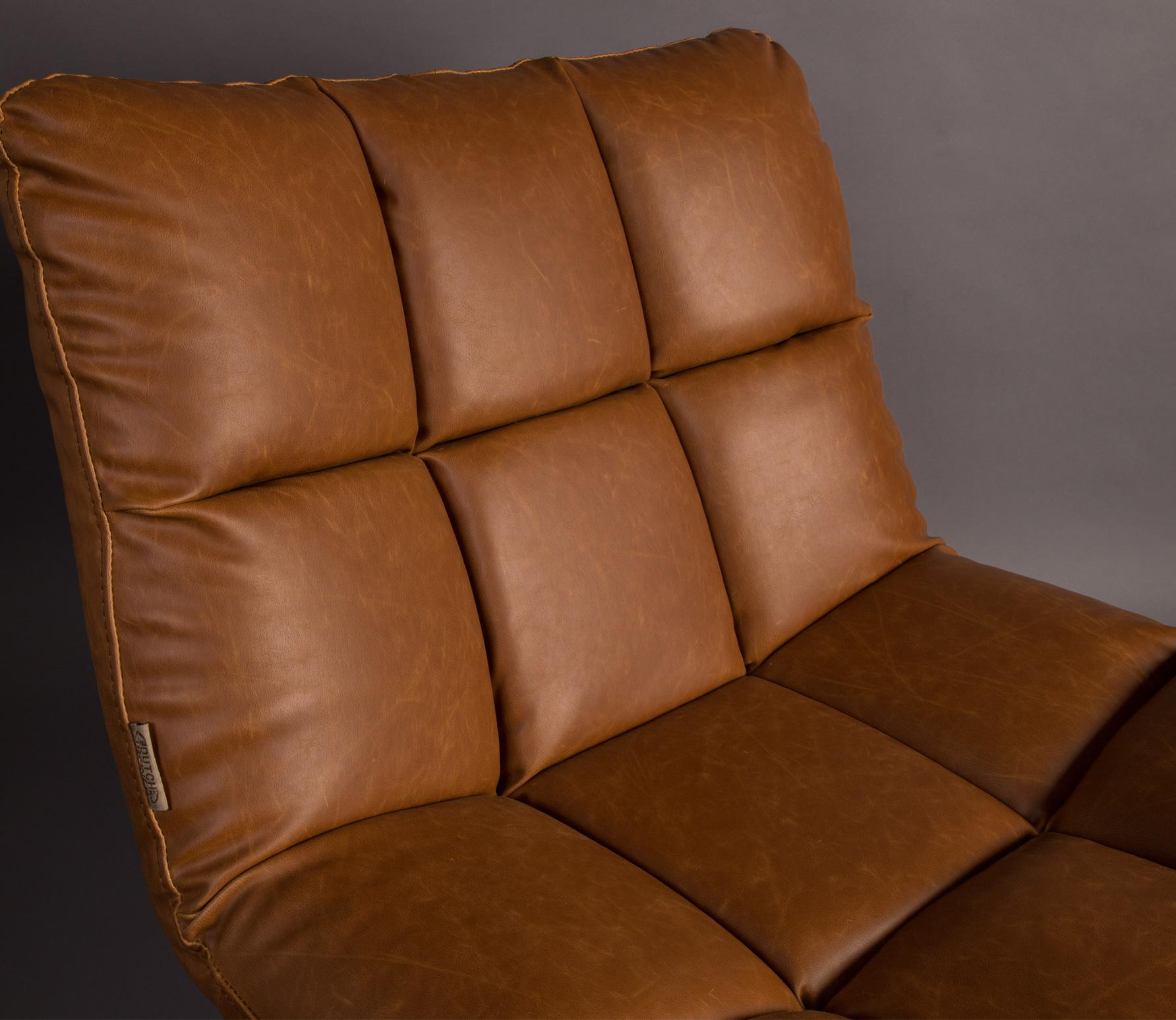 Dutchbone Bar loungefauteuil vintage bruin detail