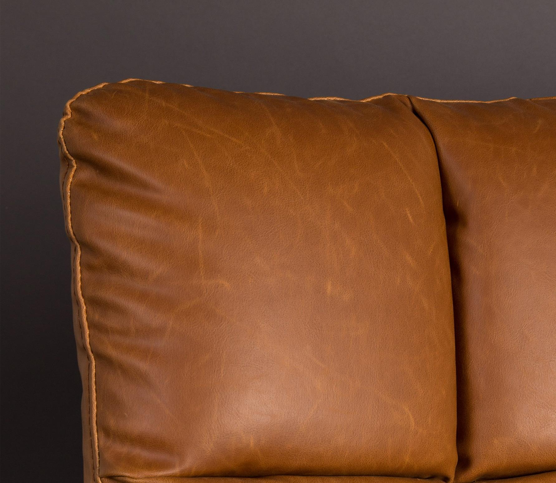 Dutchbone Bar loungefauteuil vintage bruin detail 2