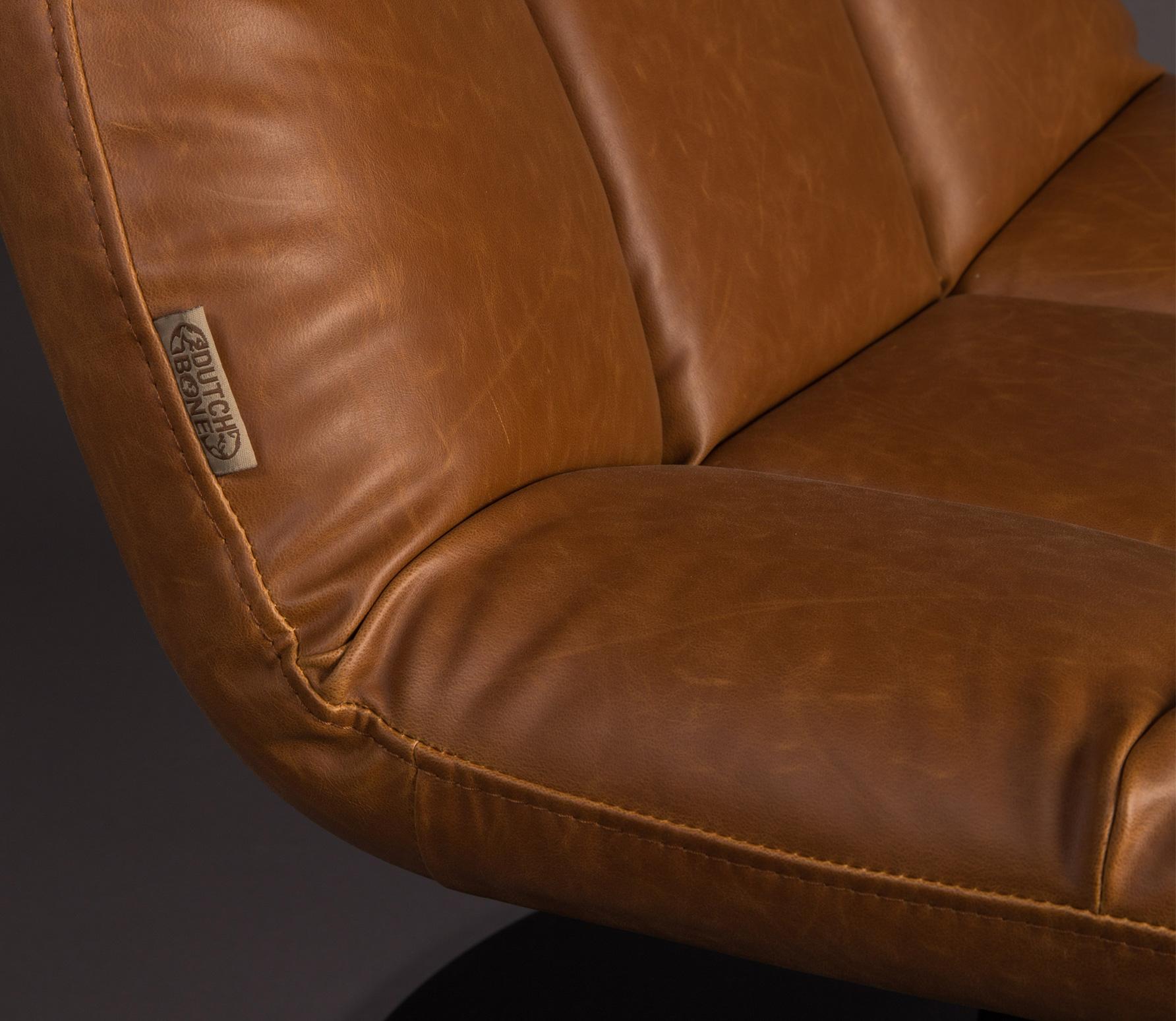 Dutchbone Bar loungefauteuil vintage bruin detail 3