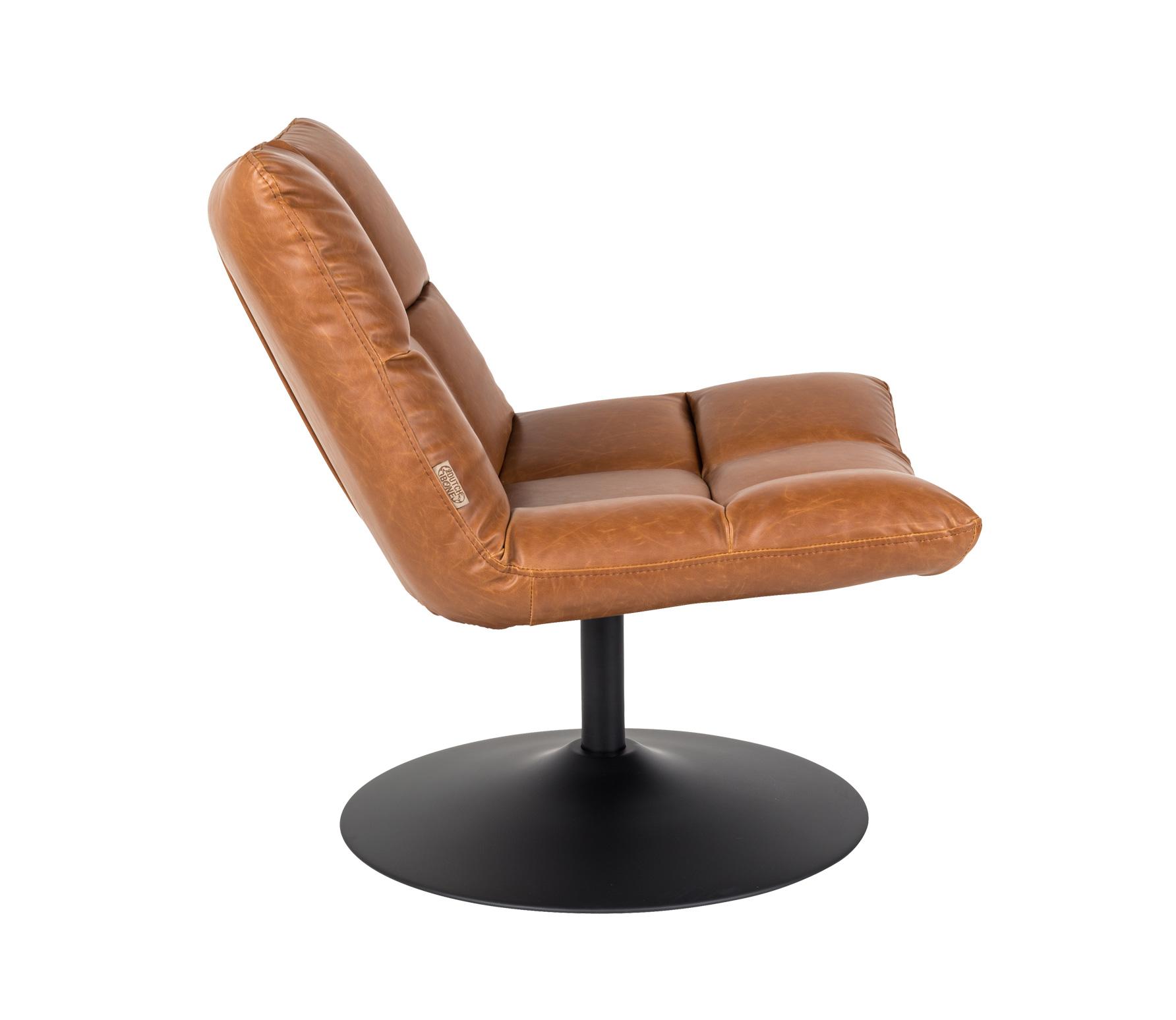 Dutchbone Bar loungefauteuil vintage bruin zijkant