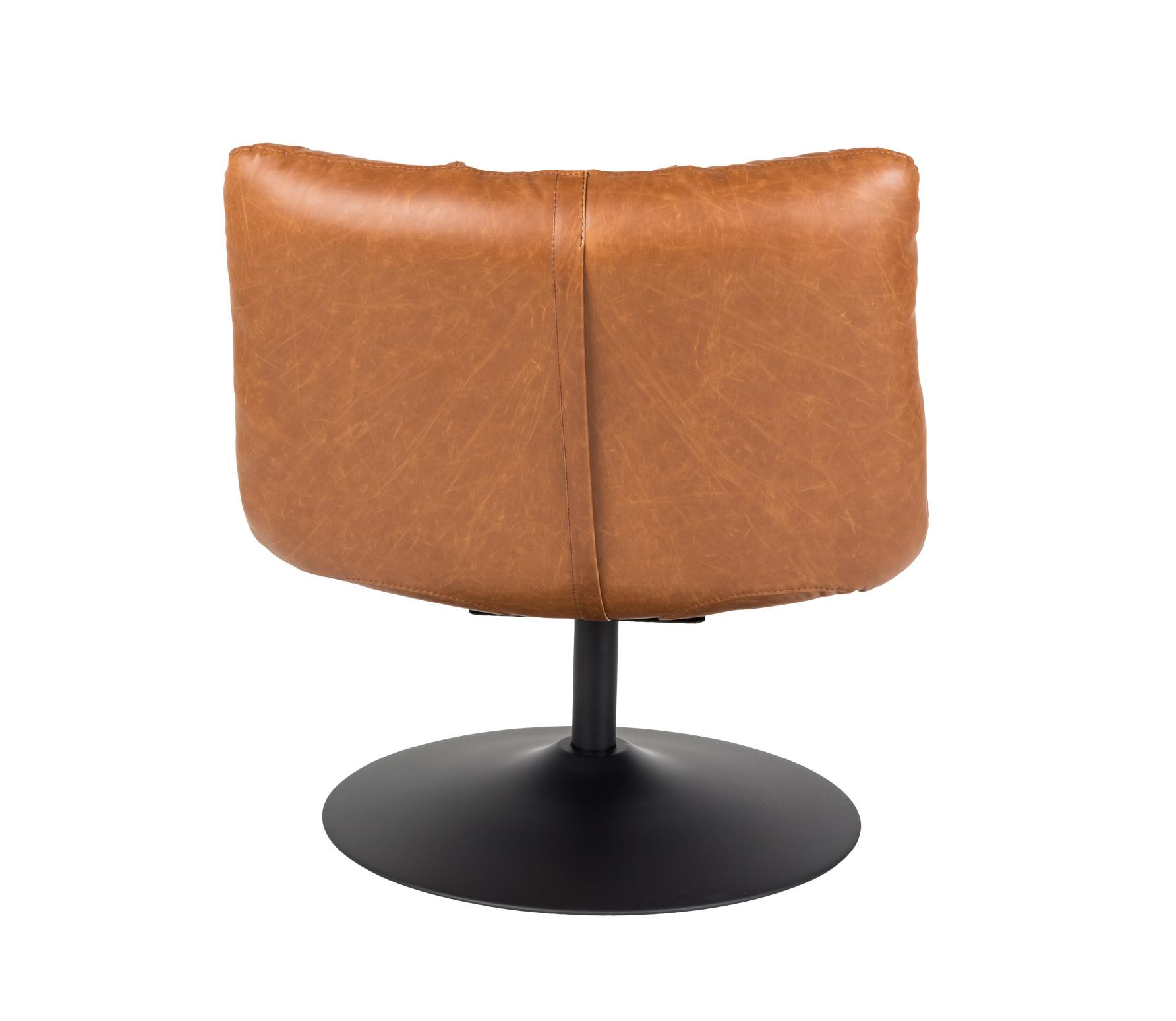 Dutchbone Bar loungefauteuil vintage bruin achterkant