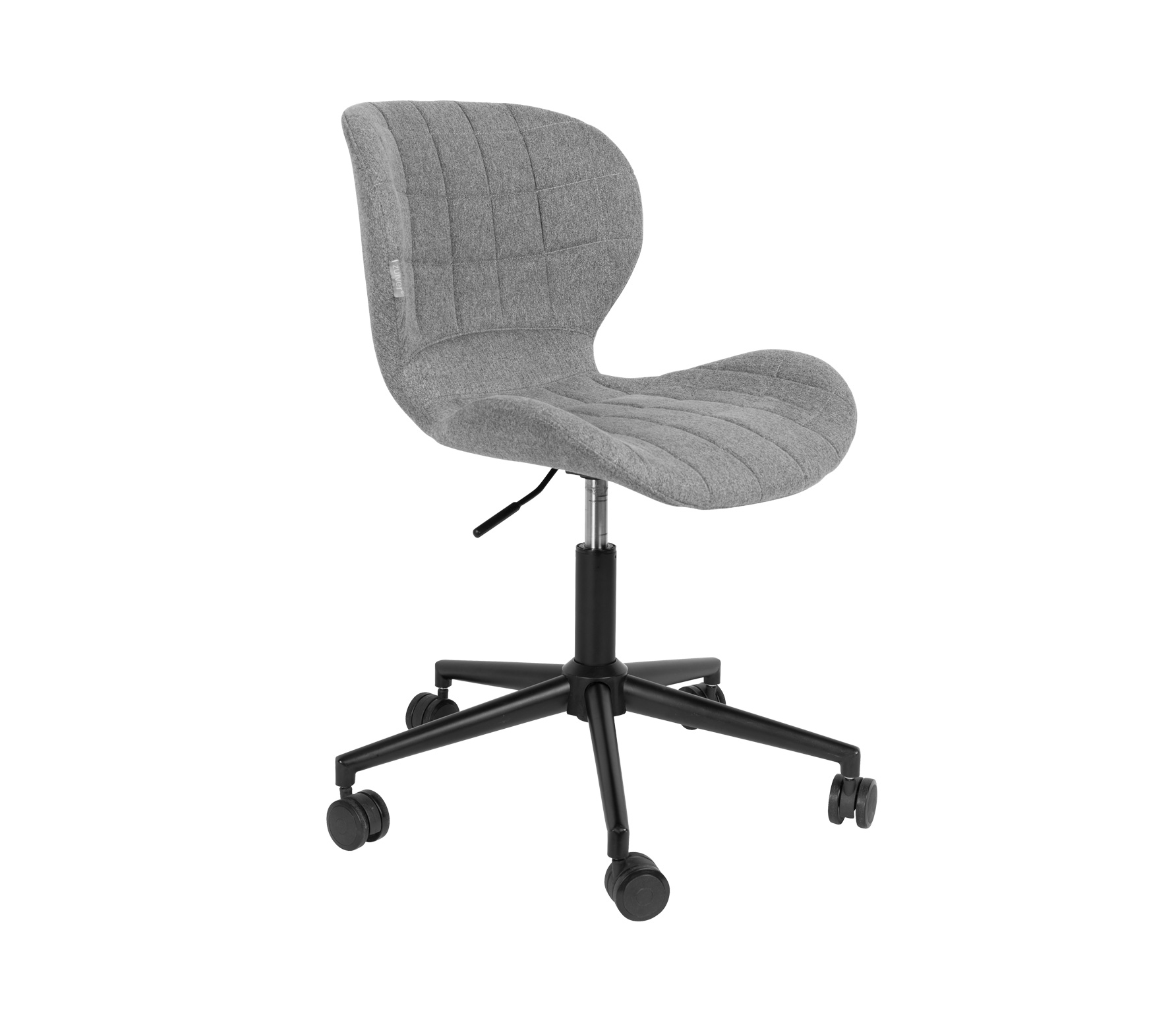 Zuiver OMG bureaustoel grijs zwart vrijstaand frontaal