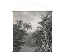Afbeelding van product: HKLiving Jungle wandkaart schoolplaat canvas XXL Zwart