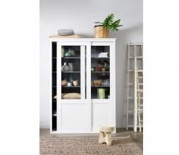 Afbeelding van product: WOOOD Vince vitrinekast 208x147x46 cm grenen gelakt wit