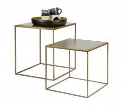 Afbeelding van product: BePureHome Metallic bijzettafels  set van 2 metaal brass