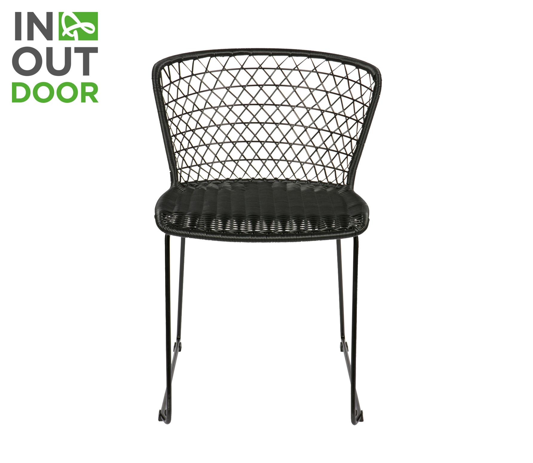 BePureHome Quadro (buiten) stoel zwart vrijstaand