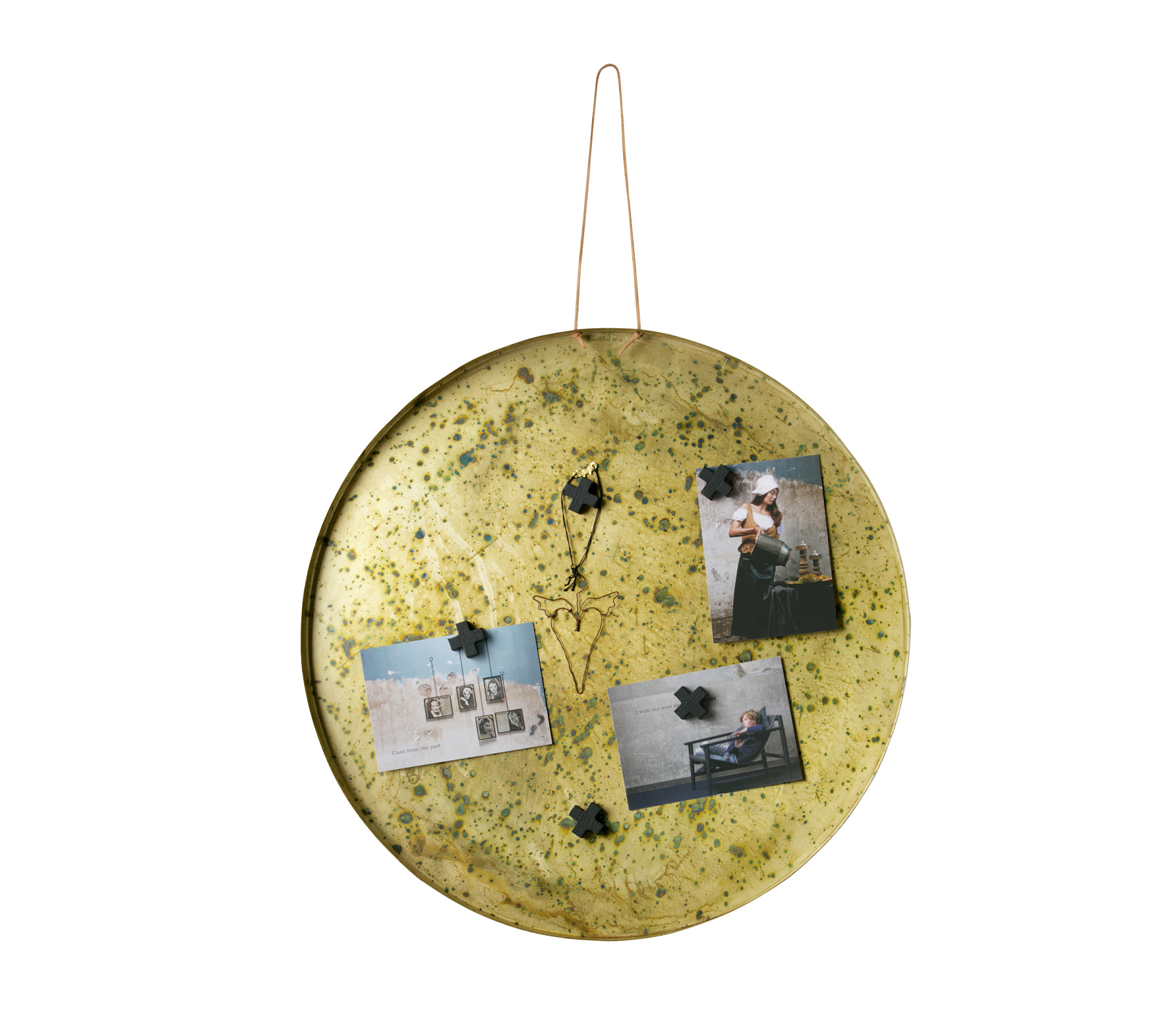 BePureHome Memories magneetbord antique brass vrijstaand