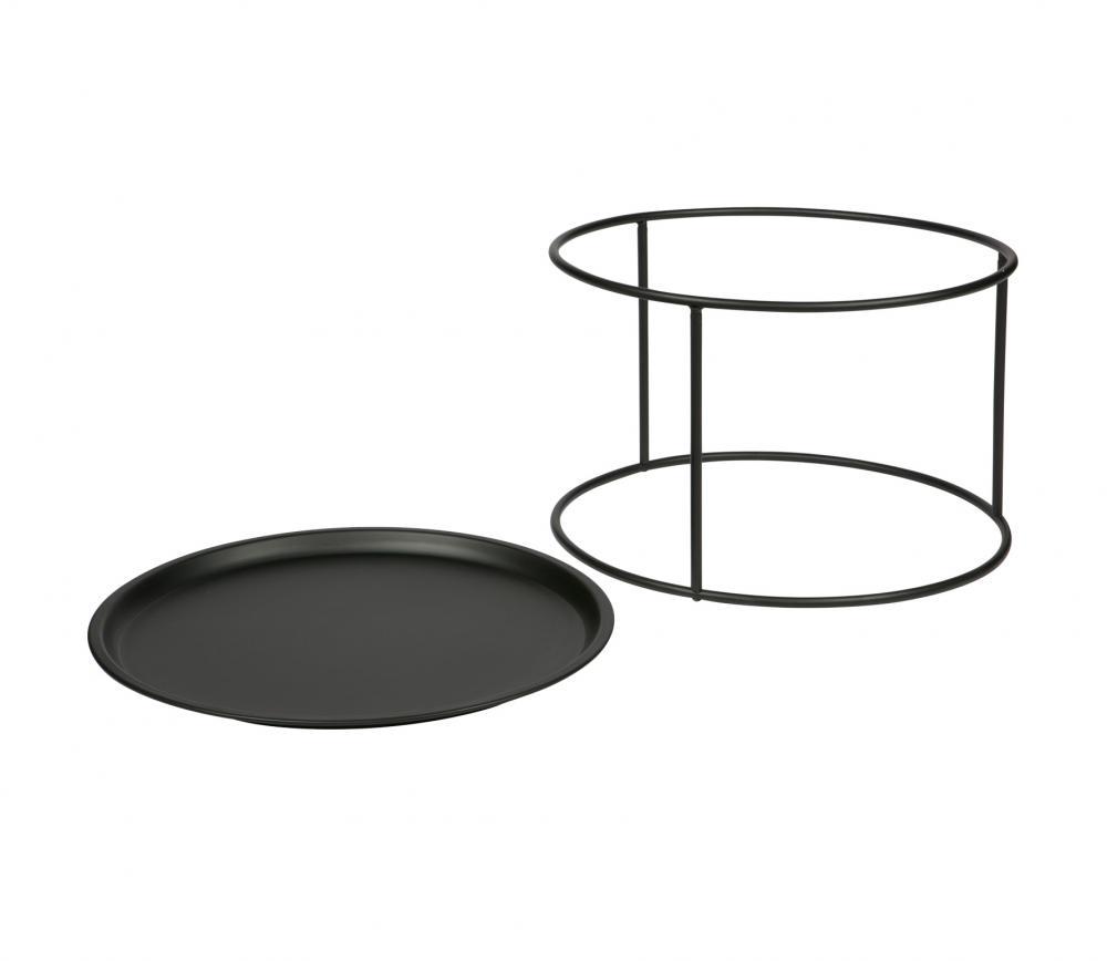 WOOOD Ivar bijzettafel zwart metaal Large vrijstaand 2