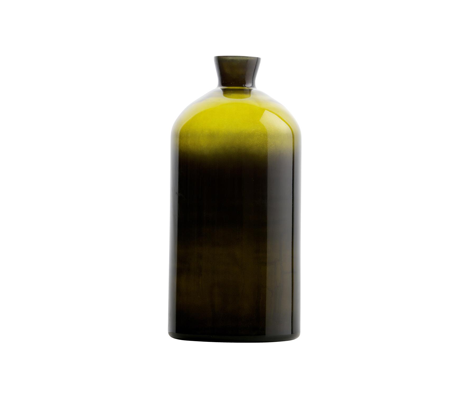 BePureHome Chemistry glazen vaas XL olive vrijstaand