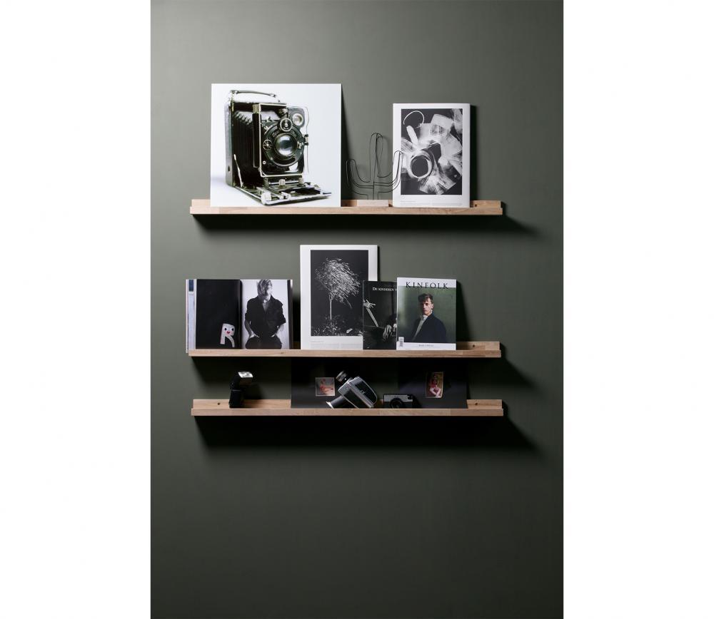 Studio fotolijstplank 120 cm eiken sfeerfoto donker