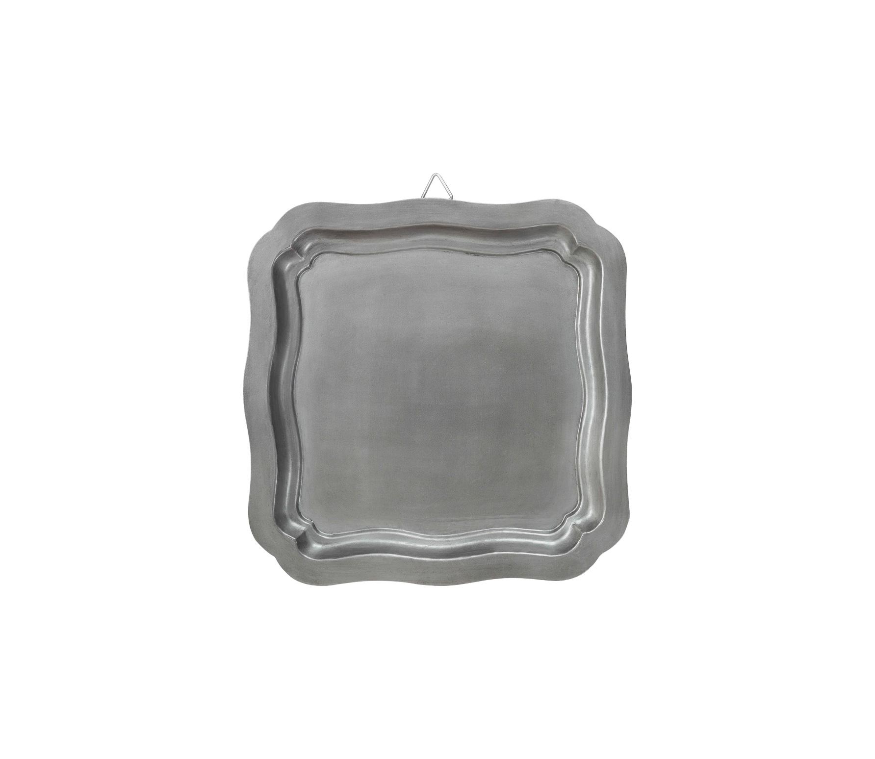 vtwonen Dienblad vierkant antique zilver finish 40x40 cm vrijstaand