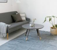 Housedoctor Karma vloerkleed grijs 160 x 230 cm sfeerbeeld