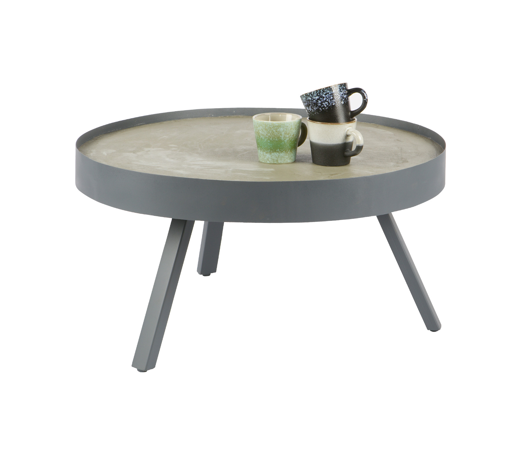 WOOOD Skip salontafel beton Large grijs vrijstaand 1