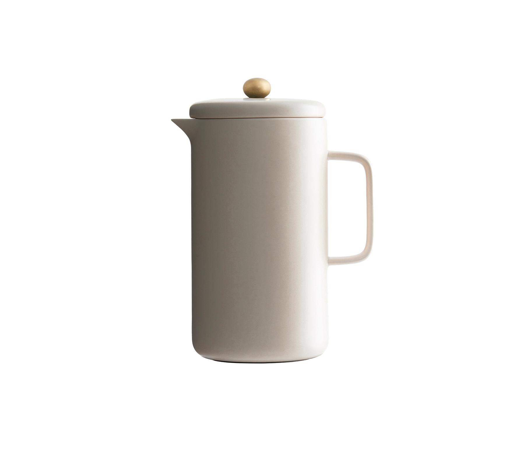 Housedoctor koffiepot porselein nude-brass vrijstaand