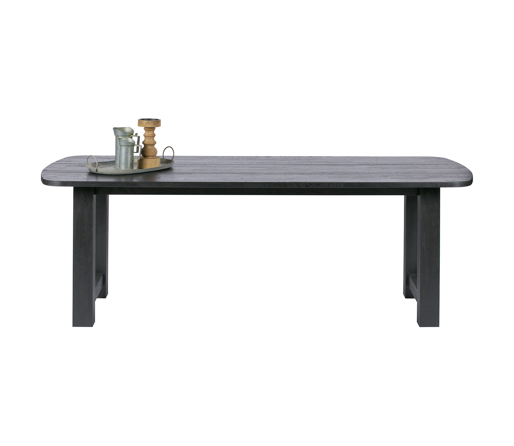 BePureHome Identity eettafel massief eiken black night 220 x 95 cm VS01