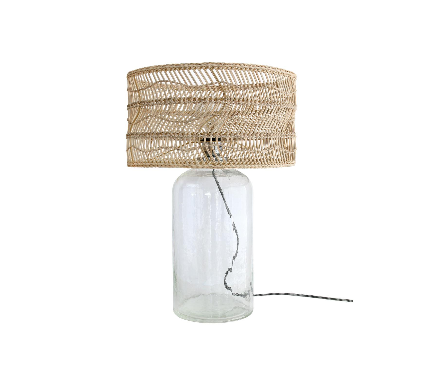HKLiving Wicker rieten fles tafellamp vrijstaand