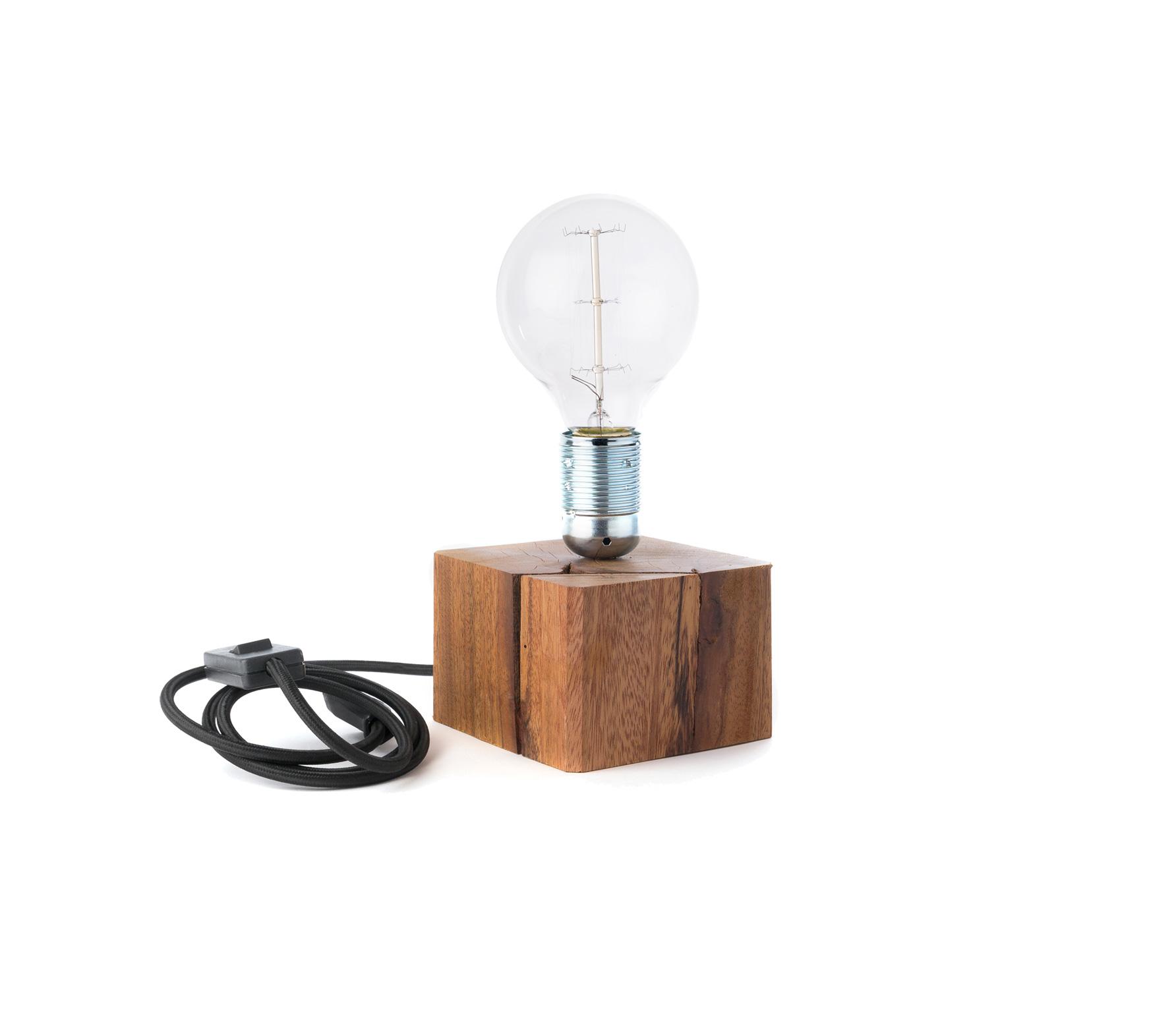Populair Mees tafellamp S incl. lamp hout wordt gratis thuisbezorgd met 60 NZ44